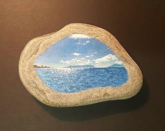 Painted Landscape on Rock - west coast or Scotland - Egg & Rum