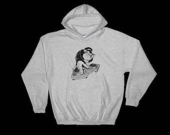 Disco DJ Monkey hoodie