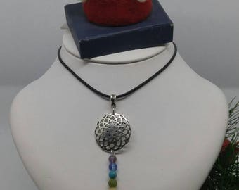 Flower of life and 7 chakras necklace