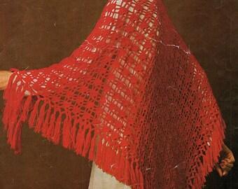 Ladies Shawl, Crochet Pattern. Instant Download.