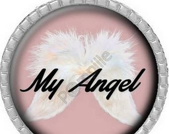 Cabochon pendant - My Angel (573) digital image