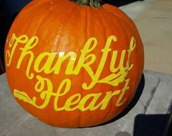 Thankful Heart Decal