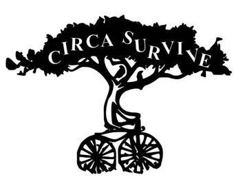 Circa Survive Juturna Bike Decal / Sticker