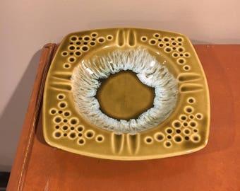 Green ceramic ashtray