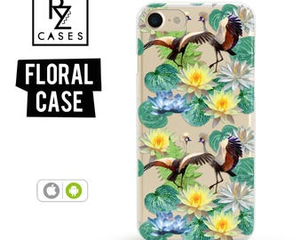 Floral Phone Case, iPhone 7 Case, Flower Phone Case, iPhone 6s Case, Birds Case, Floral iPhone Case, iPhone 5, iPhone 6 Plus, Samsung Galaxy