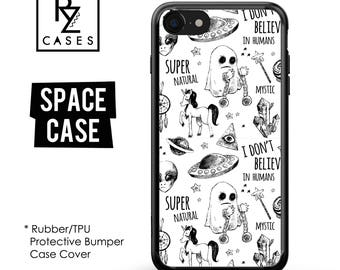 Space Phone Case, Space iPhone Case, Alien Case, Mystic, Stars, iPhone 7, Gift for Her, iPhone 7 Plus, iPhone 6S, Rubber, Bumper
