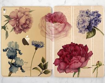 iPad floral case iPad case peonies iPad case lilac iPad Pro 10 5 case iPad Pro 9 7 case iPad case 12 9 iPad golden case iPad 2017 case iPad