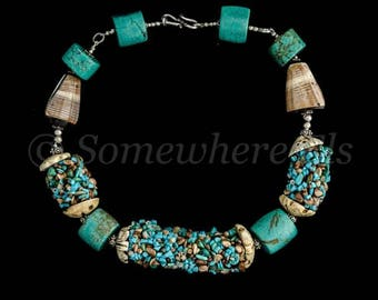 Turquoise and shell