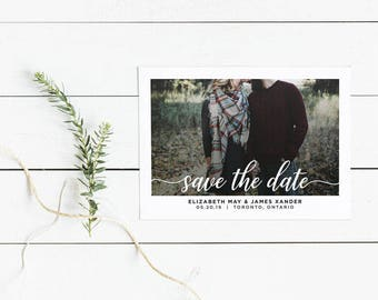 Save the Date, Printable Save Our Date, Wedding Announcement - polaroid