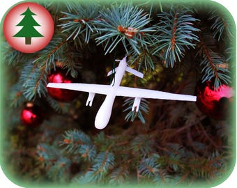 Predator Drone Tree Ornament | 3D Printed | Christmas Ornament