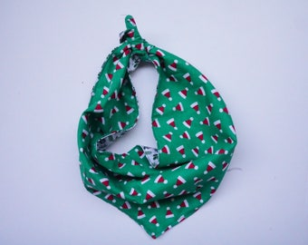Ho Ho the Mistletoe REVERSIBLE bandana!