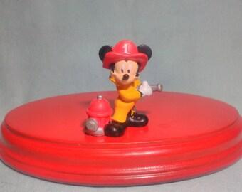 Disney Mickey figure, no 80s mark, in PVC rubber.