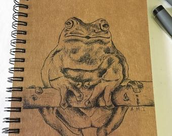 Frog notebook/ sketchbook