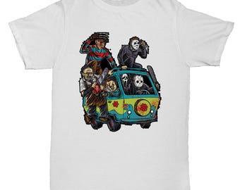 Halloween Jason Freddy Chucky Scream Jigsaw Horror Film Movie 90s 1 T Shirt