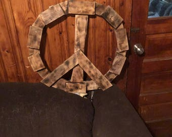 Wooden Pallet Peace Sign