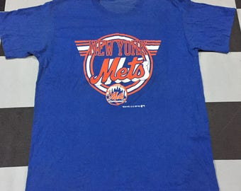 Vintage 80s New York Mets/Medium Size/Made In Usa/Paperthin