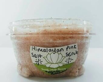 pink himilayan salt scrub