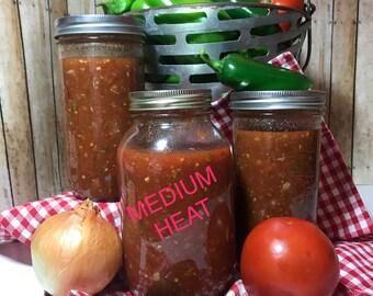 Salsa, peppers, mexican food, hispanic, peppers, appitizersKentucky Best Eats Medium Heat SALSA.