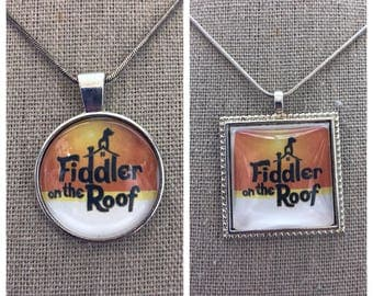 Broadway Musical Fiddler on the Roof pendant. Fiddler on the roof jewelry.Broaway play Fiddler on the roof