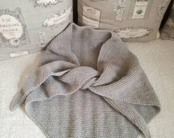 Trendy gray shawl