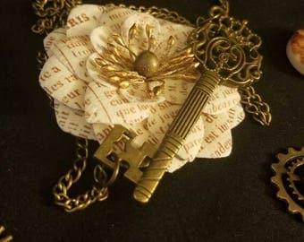 Vintage Princess Key Necklace