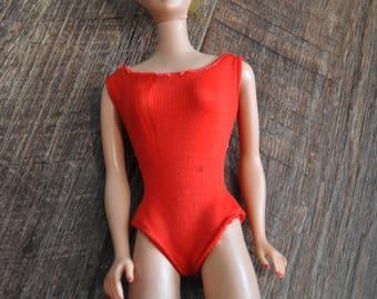 Vintage Barbie Clothes - 1962 Red Bathing Suit Fashion Pak