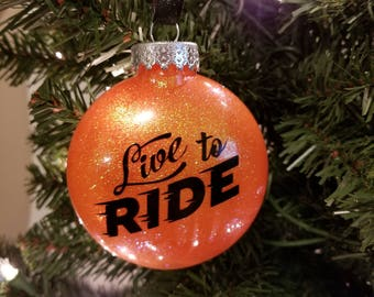 Live to Ride Harley Inspired Sillohuette Ornament