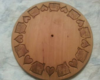 Home and Heart Wood Carving ready to paint and decorate