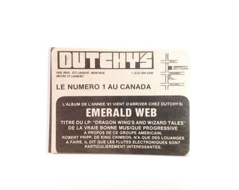 Vintage Magnet Dutchy's Record Store Magnet Rare Montreal Magnet Montreal Memorabilia Vinyl Collector Gift Under 10 - Magnet No QC-06