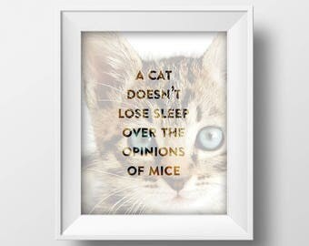 Cat Lover Gift, Cat Print, Cat Poster, Pet Gift, Cat Printable, Cat Wall Art, Inspirational Quote, Gift For Her, Gift For Him, Birthday Gift