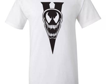 Spiderman Villian Venom V TShirt Sz:S-2XL