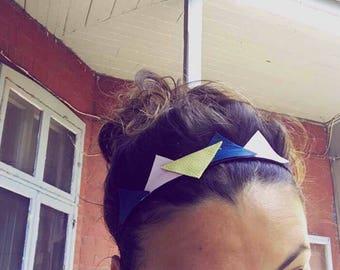Headband leather triangles