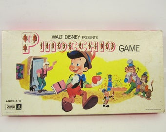 Vintage Walt Disney Presents Pinocchio Board Game by Parker Brothers 1971 Complete