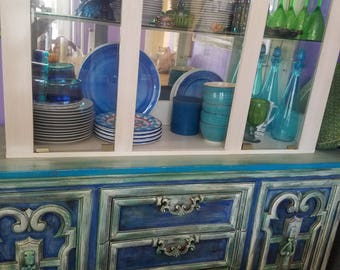 Vintage Painted Dresser, French Provincial, Buffet, Console, Painted  Furniture, Mexican Decor