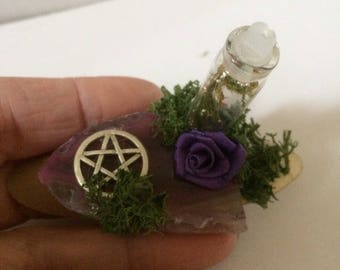 Witch magical altar decoration