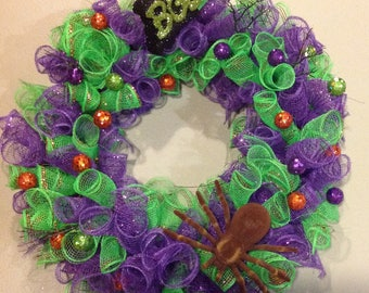 Halloween Wreath Deco Mesh Wreath