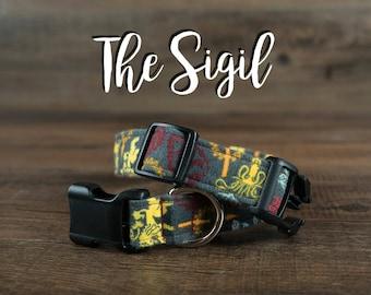 The Sigil (Game of Thrones) - Fabric Dog Collar - Adjustable Collar - Custom Fabric