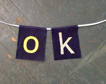 OK banner (Denim Feel-Good series)