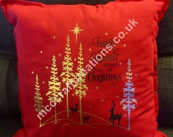 Family Is The Greatest Gift Of All For Christmas Cushion