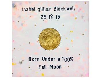 Personalised Moon Phase Illustration - Blush Pink