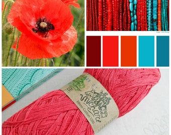 Coral yarn Eco yarn Cotton yarn Linen yarn Summer yarn Crochet yarn Ethno-cotton 1200 Cotton linen yarn Premium yarn Baby yarn Handknit yarn