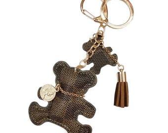 Bear key pendant tassel women bag car purse keychain Charm Jewelry Accessories