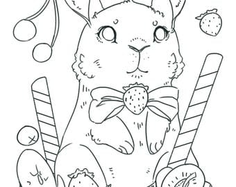 Colouring page - bunny