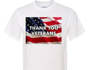 THANK YOU VETERANS Polyester T-Shirt