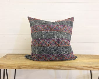 "22"" hmong decorative pillow cover"