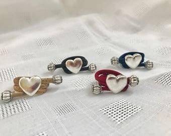Heart cork ring