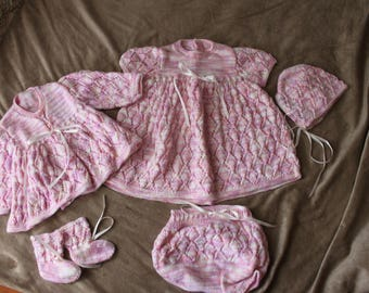 Hand-Knitted Baby Set