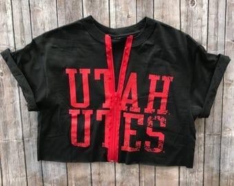 University of Utah Utes Zipper Tee