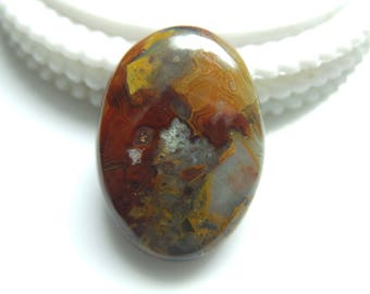 Crazy Lace Agate, Oval Cabochon, 1 pec, Size- 32x22x7 MM, Natural Crazy Lace Agate , AAA,Quality  Loose Gemstone, Smooth Cabochons.