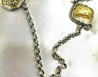 Konstantino 18K gold sterling silver necklace
